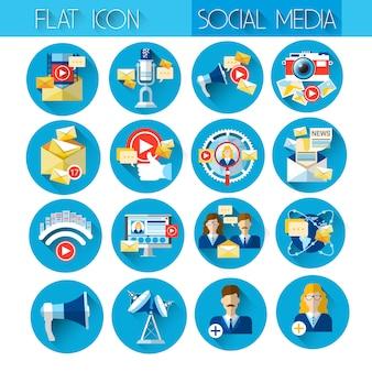 Conjunto de iconos de internet web