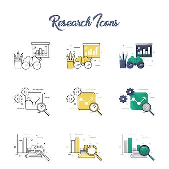 Conjunto de iconos de investigación