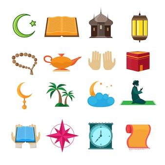 Conjunto de iconos del islam