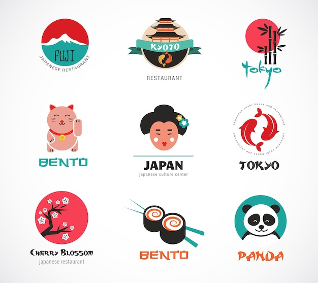 Conjunto de iconos japoneses