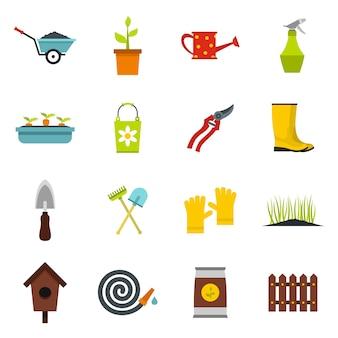 Conjunto de iconos de jardinería