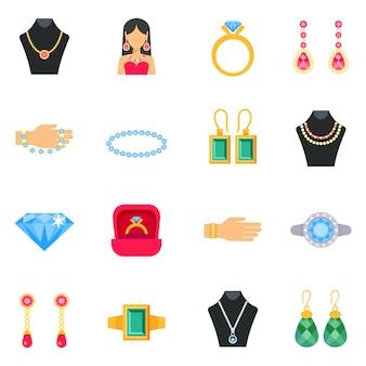 Conjunto de iconos de joyería