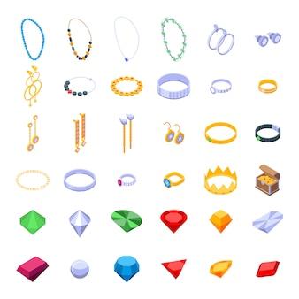 Conjunto de iconos de joyero