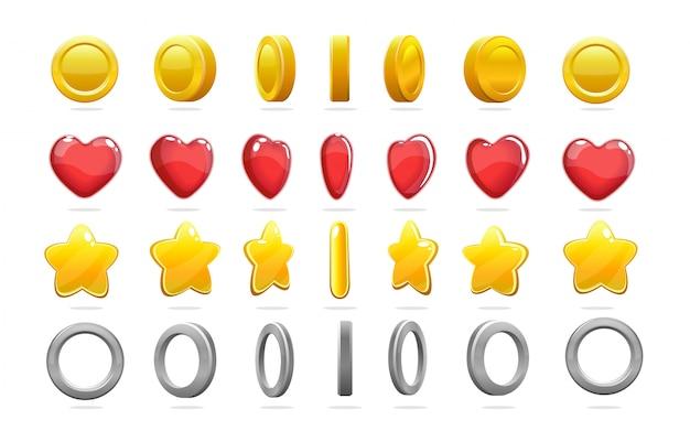 Conjunto de iconos de juego colorido