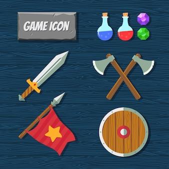 Conjunto de iconos del juego