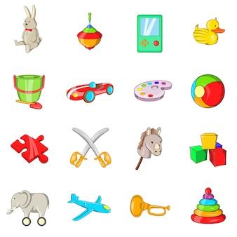 Conjunto de iconos de juguetes