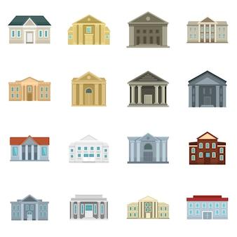 Conjunto de iconos de juzgado