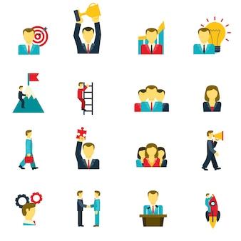 Conjunto de iconos de liderazgo