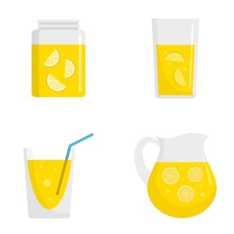 Conjunto de iconos de limonada