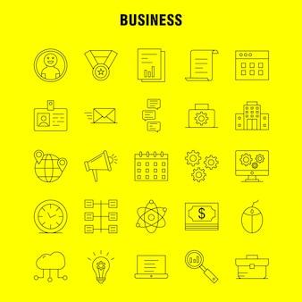 Conjunto de iconos de línea de negocios