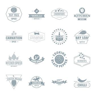 Conjunto de iconos de logo de especias