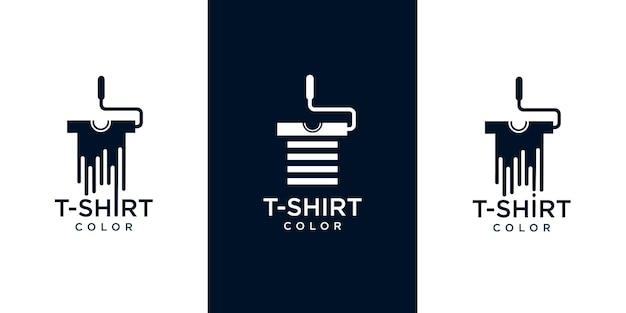 Conjunto de iconos de logotipo de camisetas para colorear
