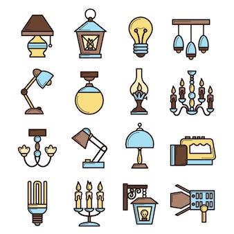 Conjunto de iconos de luz