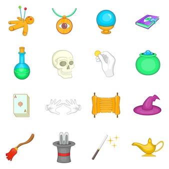 Conjunto de iconos de magia