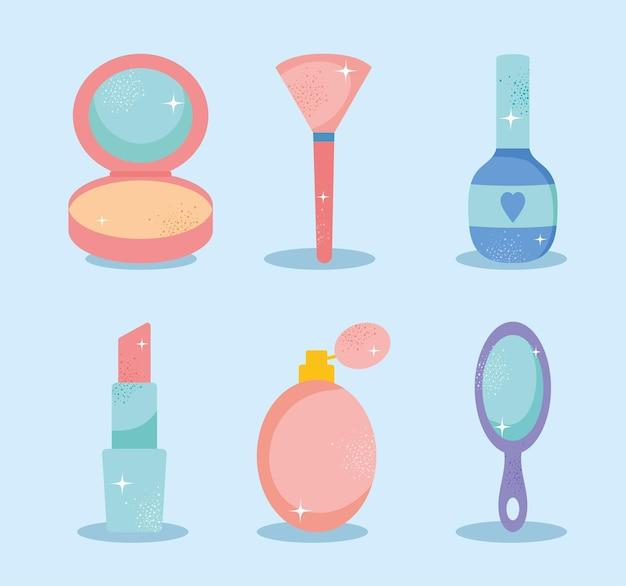Conjunto de iconos de maquillaje