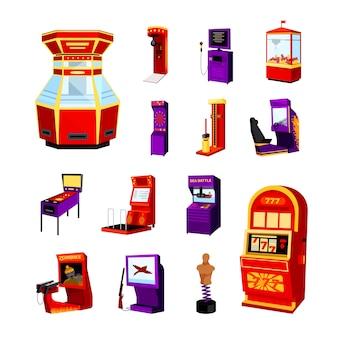 Conjunto de iconos de la máquina de juego