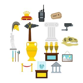 Conjunto de iconos de marca de verificación, estilo plano