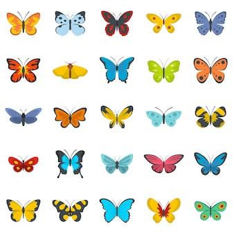 Conjunto de iconos de mariposa