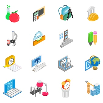 Conjunto de iconos de matrícula