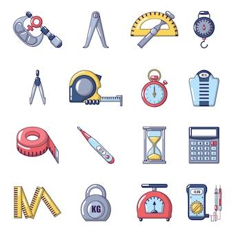 Conjunto de iconos de medida de precisión