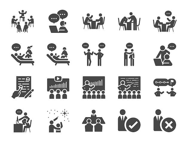 Conjunto de iconos de mentor.