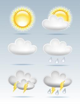 Conjunto de iconos meteorológicos