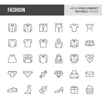 Conjunto de iconos de moda