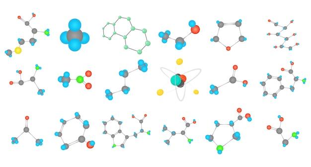 Conjunto de iconos de la molécula