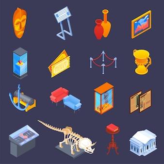 Conjunto de iconos de muestra de museo