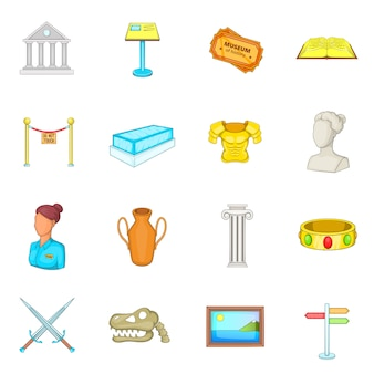 Conjunto de iconos de museo