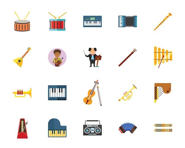 Conjunto de iconos de música