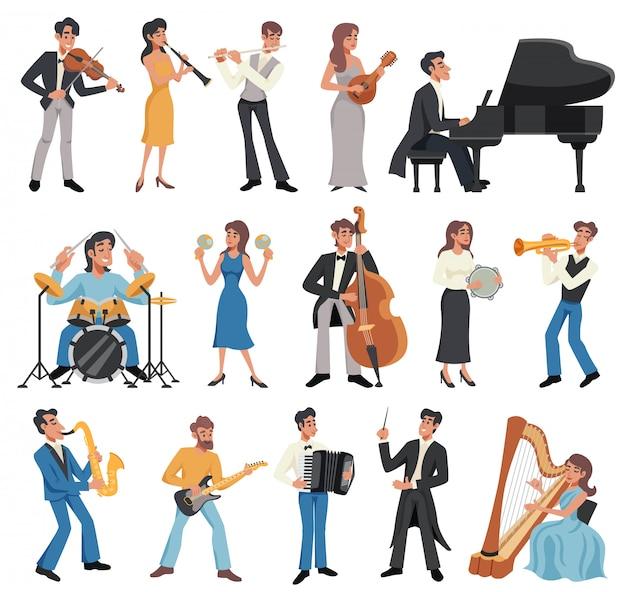 Conjunto de iconos de músico