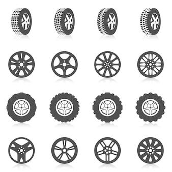 Conjunto de iconos de neumáticos