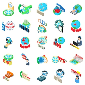 Conjunto de iconos de noticias mundiales