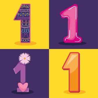 Conjunto de iconos número uno