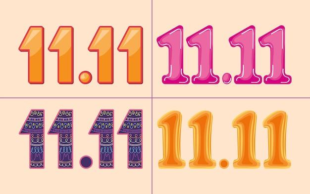 Conjunto de iconos de números