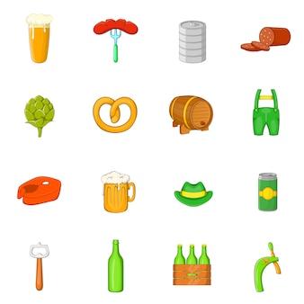 Conjunto de iconos de octoberfest