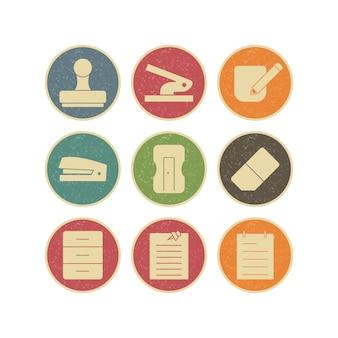 Conjunto de iconos de oficina