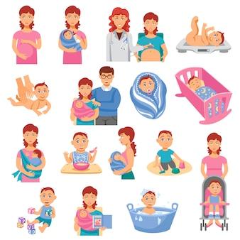 Conjunto de iconos de padres