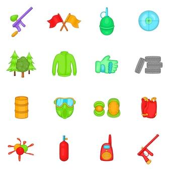 Conjunto de iconos de paintball