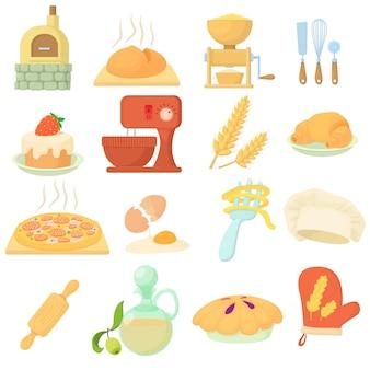 Conjunto de iconos de panadería