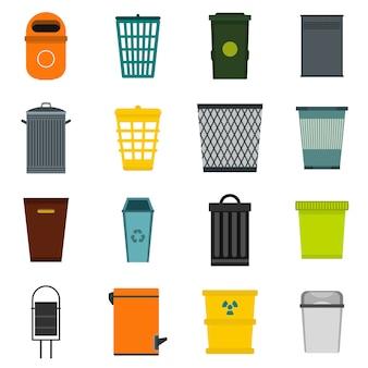 Conjunto de iconos de papelera