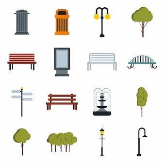 Conjunto de iconos de parque