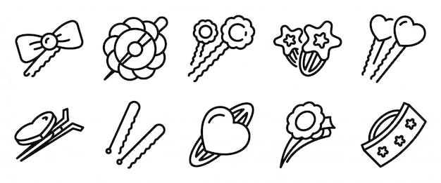 Conjunto de iconos de pasador