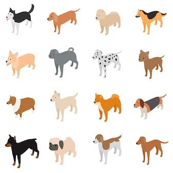 Conjunto de iconos de perro