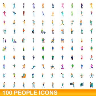 Conjunto de iconos de personas, estilo de dibujos animados