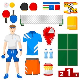Conjunto de iconos de ping pong.