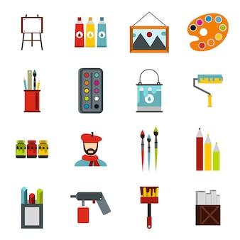 Conjunto de iconos de pintura