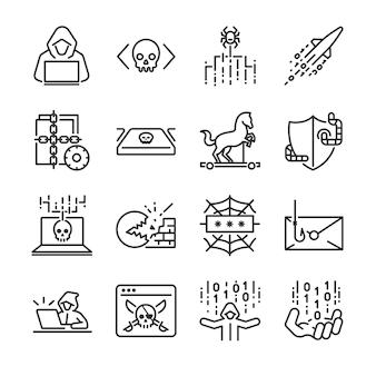 Conjunto de iconos pirata.