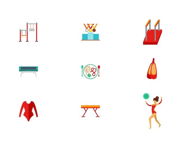 Conjunto de iconos de pista y campo